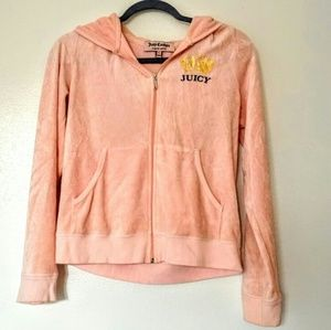 Juicy Couture light pink hooded sweater